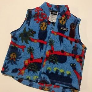 Blue & Red Patagonia Owl Vest 12 month